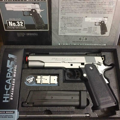 Tokyo Marui Toy No.32 Hi-CAPA 5.1 Stainless Color Model Gas Blow Back Hand Gun