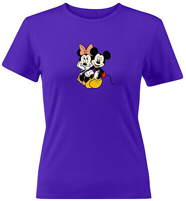 Disney Couple I/'ll Be Your Minnie Funny Love Tee Top Womens Juniors Crew T-Shirt