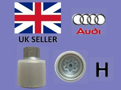 Audi New Locking Wheel Nut Key Letter H, Code 808