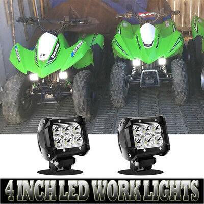 2Pack 18W 4Inch LED PODS Driving Lamp Fit Jeep SUV UTV Offroad Truck ATV Trails