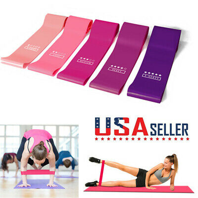 Pull Up Resistance Body Stretching Band Loop Power Gym Exercise Fitness Yoga US