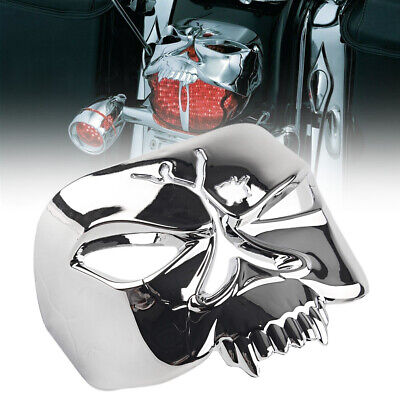 Tail Light Cover Zombie Skull Chrome Fit for Harley Softail Touring Street Glide