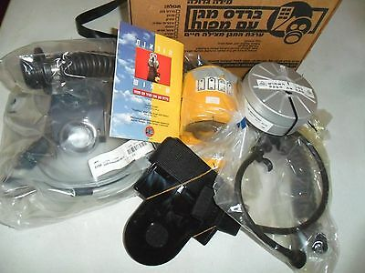 Idf Israeli Survival Civilian Protective Hood Gas Mask w/ Blower NBC Filter. New