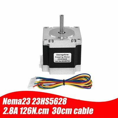 23HS5628 4-lead Nema 23 Stepper Motor 2.8A With 8.00mm Shaft Stepper Motor /W