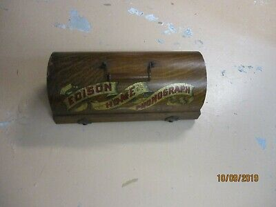 A all original Edison  Suitcase Home cylinder phonograph with original  horn