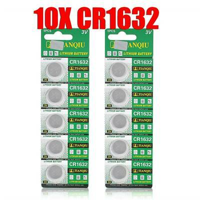 10pcs CR1632 ECR1632 3V Coin Cell Button Battery For Watch Toys Remote Batteries