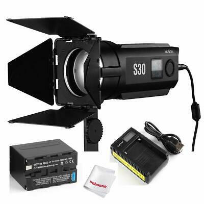 Godox S30 Focusing LED Light for Shooting Photojournalistic Video Recording+Gift