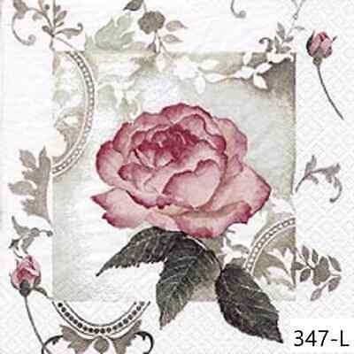 TWO New Paper Luncheon Decoupage Napkins - ROSE, ROSES, FLOWERS, PINK, (347)