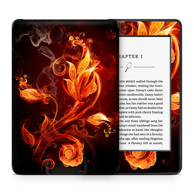 Fire Flower Floral Vinyl Skin Sticker Wrap to Cover & Personalise Kindle