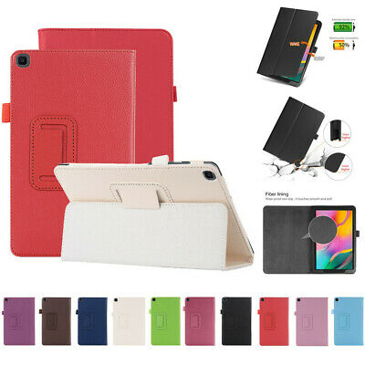 For Samsung Galaxy Tab A 8.0 2019 SM-T290 T295 Stand PU+Leather Smart Case Cover