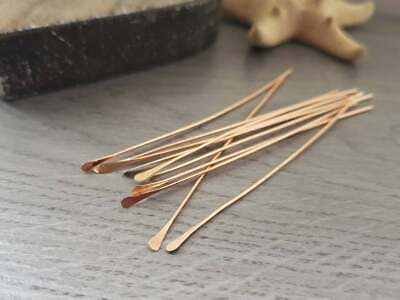 20g Raw Bronze Paddle Head Pins - Handmade To Order - 10 Pieces