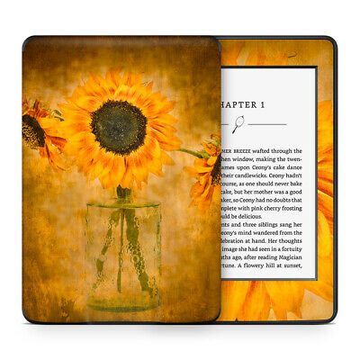 Sunflower Floral Vinyl Skin Sticker to Cover & Personalise Kindle Paperwhite