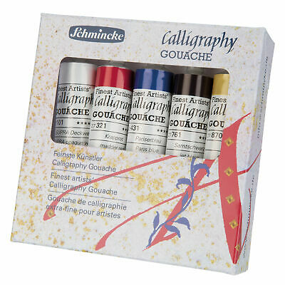 (34,99€/100ml) Calligraphy Gouache Schmincke 5 x 20 ml Kartonset 72 705 097