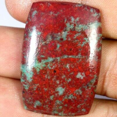 100% Natural Sonora Sunrise Chrysocolla Cushion Cabochon 25 X 36 X 04mm 52.90Cts