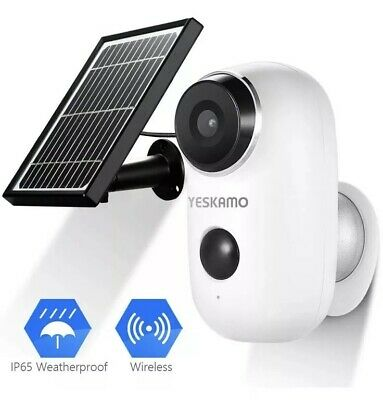 Battery Security Camera Wireless - Solar Powered IP Camera Outdoor 1080P HD R...