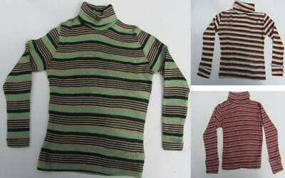3 vintage polo neck jumpers warm ski striped skin layer age 5 80's NWT's