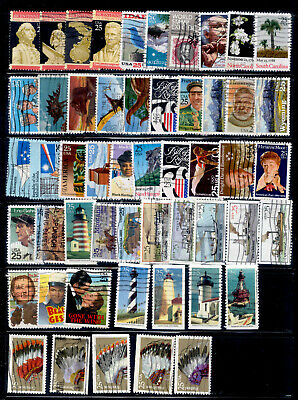US 73 Stamps 25 Cent Used Lot 1988-1991
