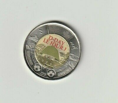 2019 Colour 75th-D-DAY Canadian Toonie Royal Mint