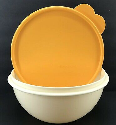 Tupperware Wonderlier Bowl 8 3/4 Cup #2519 Cream Orange New