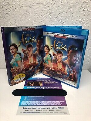 Aladdin 2019 Live Action Blu Ray + Digital HD (NO DVD INCLUDED) Will Smith