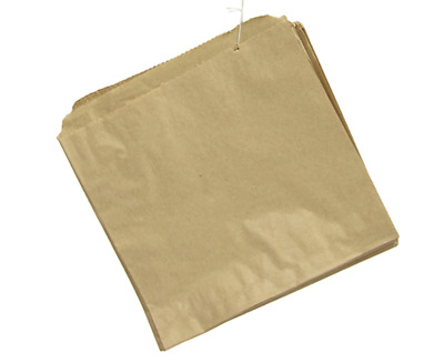 500 BROWN KRAFT STRUNG PAPER BAGS FOOD SANDWICH GROCERY BAG 12 x 12.5 inches