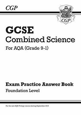 GCSE Combined Science: AQA Answers for Exam Pra by CGP Books New Paperback Book