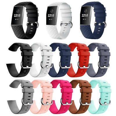 Silicone Replacement Watch Bands Wrist Strap For Fitbit Charge 3 Styles Bracelet