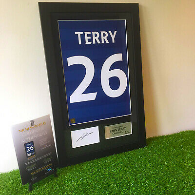 Authentic hand signed Framed John Terry Chelsea 11/12  Home shirt Print