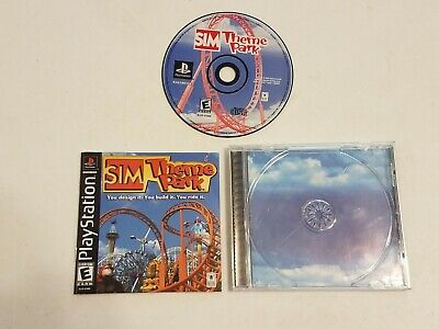 Sony Playstation 1 PS1 Sim Theme Park Complete CIB +Box/Case,Manual City PS2/PS3