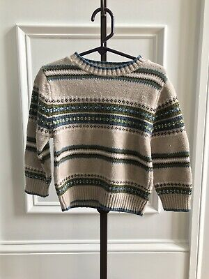 Gymboree Boys Toddler Long Sleeve Mammoth Fair Isle Sweater