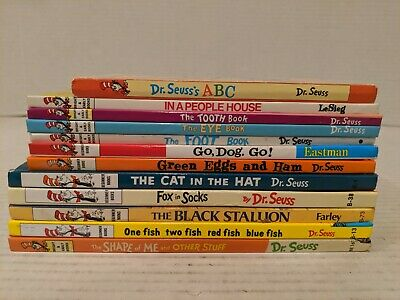 Huge Lot of 12 Dr. Seuss & Others Beginner, Bright & Early and other Books. FS!!