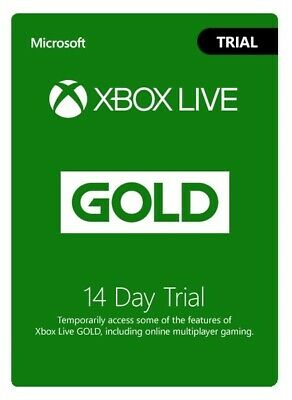 Xbox Live GOLD (Global) Trial Subscription 14 day Xbox ONE only INSTANT DELIVERY