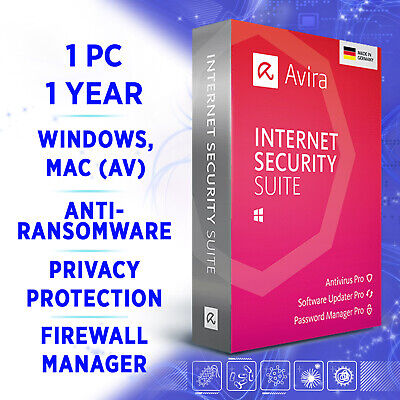 Avira Internet Security Suite 1 device 1 year 2019 2020 full version
