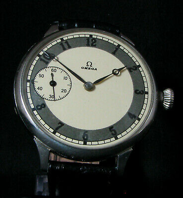 OMEGA Antique 1930 Large Wristwatch Metal Dial