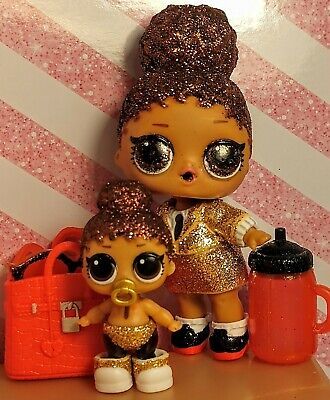 Lol Surprise Dolls. BOSS QUEEN. Big & Lil sis. Sparkle Series lot of 2.