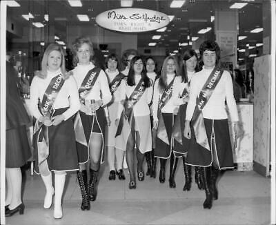 Photograph of The Selfridges staff will help customers with the new English curr
