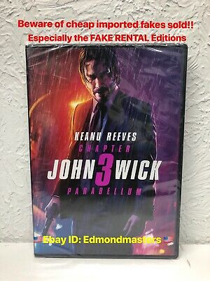 John Wick Chapter 3 Parabellum DVD 2019 Authentic (Beware of fake rentals sold)