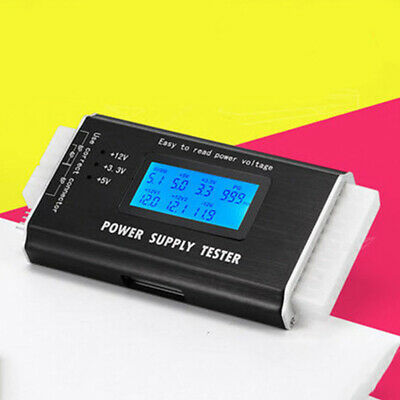 LCD PC Power Supply Tester Digital Check Measuring 20/24 Pin Computer Display