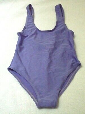 Bnwot Lilac Childs Swimming Costume Italy 14 Years Fit 7 - 10 Years ? Low Back