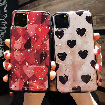 Love Heart Girl Cute Bling Case iPhone 11 Pro Max 6S 7 8 Plus XR XS MAX Cover