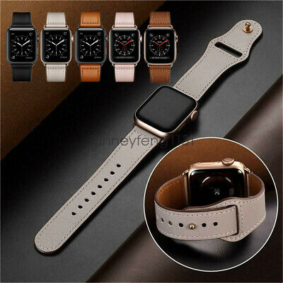 Genuine Leather Apple Watch Band Strap for iWatch Series 5 4 3 2 40/44mm 38/42mm