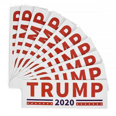 Donald Trump Bumper Sticker 2020 Keep America Great - 10pcs/set