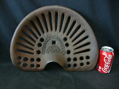 Vintage Western L. Roller Co. Farm Tractor Implement Seat Cast Iron Hastings Neb