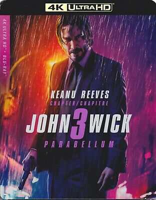 JOHN WICK 3 PARABELLUM 4K ULTRA HD & BLURAY SET with Keanu Reeves & Halle Berry