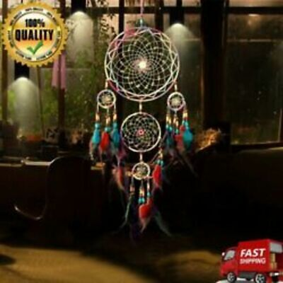 31 Large Dream Catcher Colorful Feathers Wall Home And Office Hanging Ornament