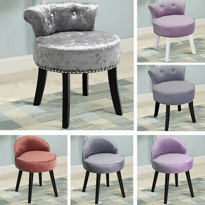 Vanity Fabric Dressing Table Chair Stool Upholstered Low Back Makeup Piano Seat
