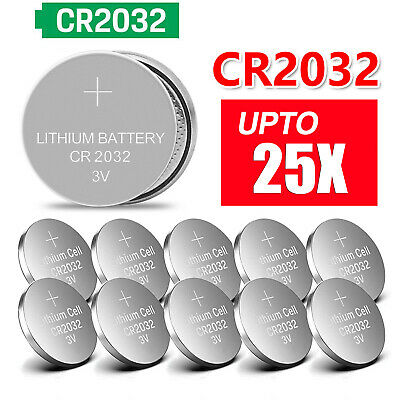 Lots 25x CR2032 CR 2032 3 Volt Button Cell Coin Battery for Toys Watch Remote