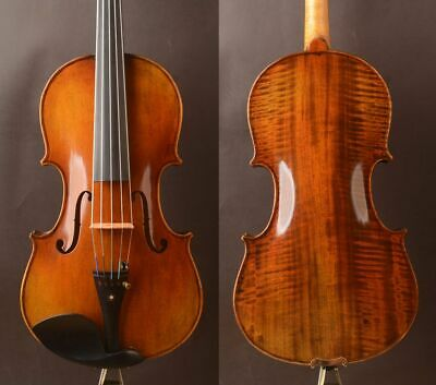 "FIve strings German oil antique!A Strad model  Viola 16"" Best tone"