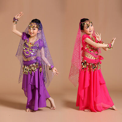 AK002 NEW Girls Kids Belly Dance Costume Indian Bollywood Oriental Carnival Set