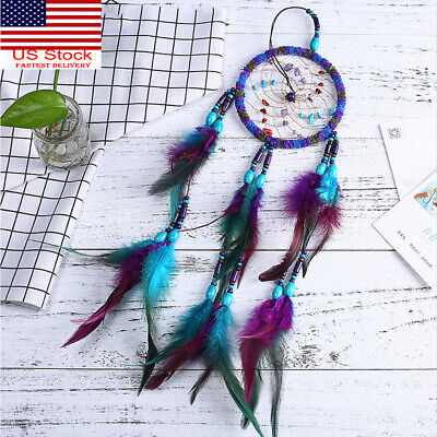 Dream Catcher Handmade Exquisite Feather Beaded Large Kids Cars Bedroom Decorat